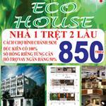 Khu nhà ở liền kề Eco House nằm sát bên chợ Bình Chánh.Trường học
