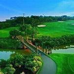 Bán đất nền sổ đỏ trong sân Golf, 3 mặt giáp sông, tiện ích đầy đủ.