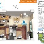 Bán gấp căn hộ Topaz City, block A1 chuẩn bị nhận nhà, tầng trung, view Q.1 cực đẹp