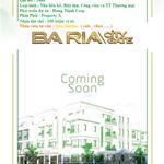 Bán dự án Khu đô thị Bà Rịa Vũng Tàu, ngay trung tâm hành chính , diện tich 5x20 giá 10 triệu/m2