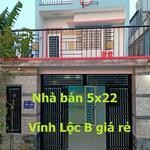 Nhà bán 1 trệt 1 lầu Vĩnh Lộc B giá rẻ