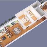 Cho thuê nhà nguyên căn 1 lầu 120m2 đường 7m tại 2/4B KP2 Trường Chính P TTN Q12
