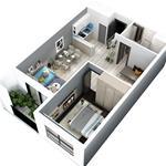 Bán lại chung cư 53m2 giá HĐ 1,6 tỷ + chênh lệch thấp tại Q7 Riveride đường Đào Trí Quận 7