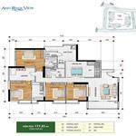 căn hộ Hoàng Anh river view tòa C loại 4PN, DT 177m2 bán với giá hợp lí