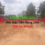 Bán Đất Mặt tiền đường Bến Súc, An Phú, Củ Chi, DT 20 x 60m (thổ cư 300m2)