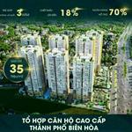 Căn hộ 5 sao ngay trung tâm TP Biên Hòa chiết khấu 22% trả trước 350tr sở hữu ngay lập tức