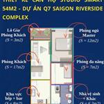 Nhà hàng lỗ vốn cần bán lại căn hộ 2 phòng ngủ Q7 Sài Gòn Riverside Hưng Thịnh giá HĐ 1 tỷ 670