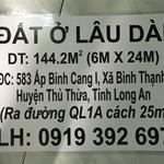 Bán gấp lô đất 6x24 tặng 5 phòng trọ tại Bình Cang 1 - Bình Thạnh - Thủ Thừa - Long An