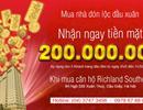 Nhận lộc đầu năm 200 triệu đồng tiền mặt khi mua căn hộ Richland Southern