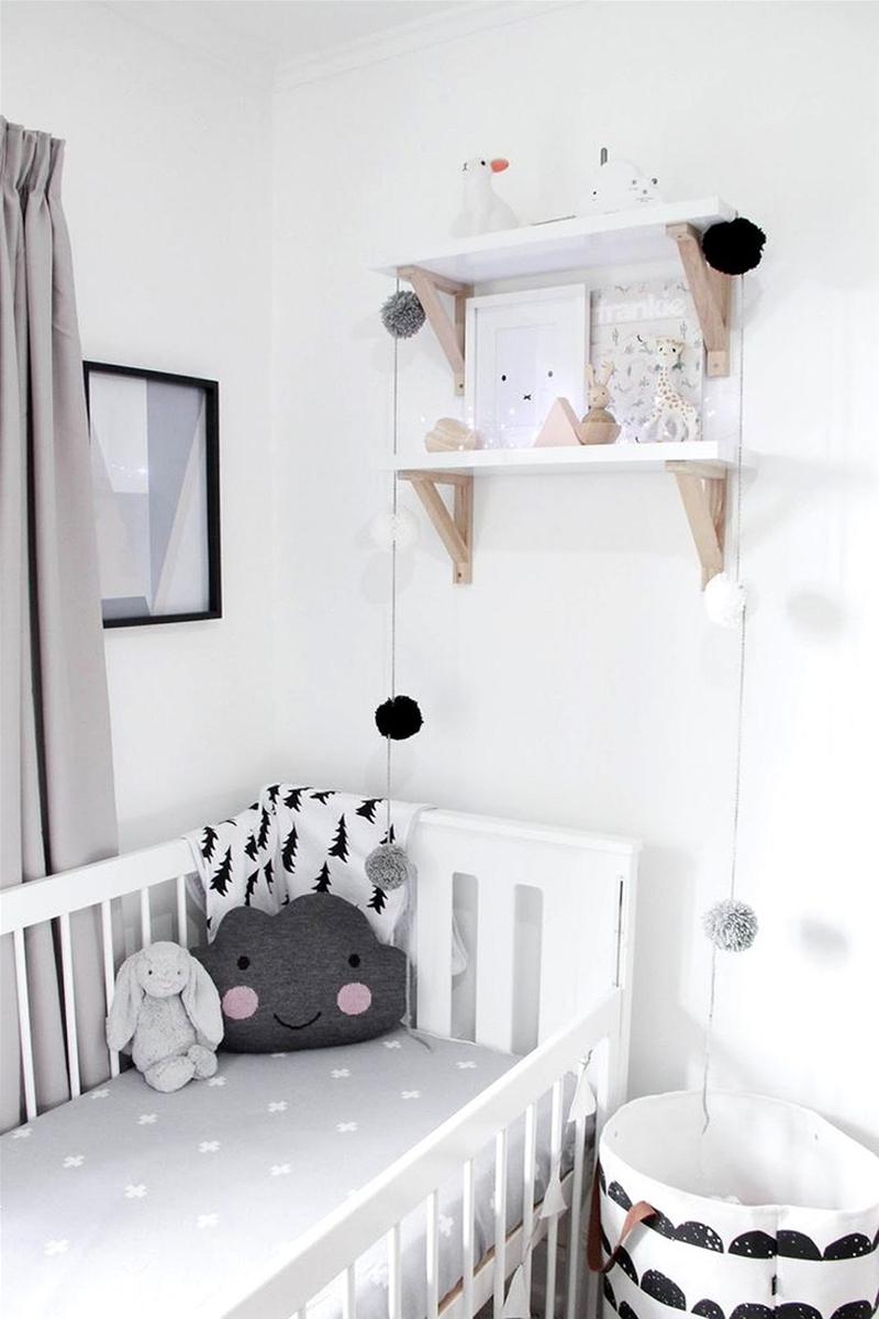 10 déco de chambres en noir et blanc pour bébé!