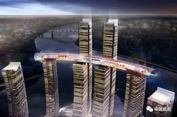 Trung Quốc sắp xây 'hành lang thủy tinh' nối 4 tòa nhà