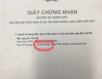 Ma mãnh giao dịch bằng sổ đỏ giả ở Khánh Hòa